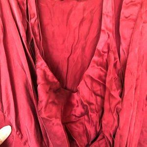 Victoria's Secret silk robe and cami set small